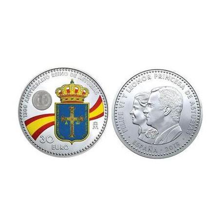 Spanje 2018 30 euro Reino de Asturias Unc