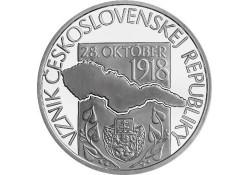 Slowakije 2018 10 Euro Bu 100 jaar Tjechische Republiek