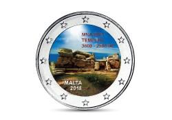 2 Euro Malta 2018  Mnajdra tempel Gekleurd