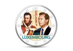 2 Euro Luxemburg 2018 150 Willem I Gekleurd
