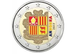 2 Euro Andorra 2017 Gekleurd