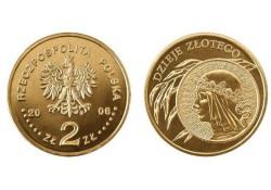 Polen 2006 2 Zlote Munt op munt Unc