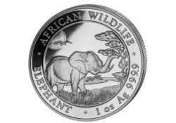 Somalië 2019 100 Shillings 1 Ounce zilver Proof Olifant