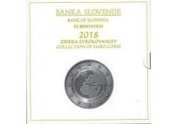 Bu set Slovenië 2018 Met de 2 & 3 euromunt