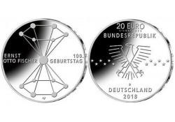 """20 Euro Duitsland 2018 D  """"Ernst Otto Fischer"""" Unc"""