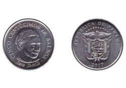 Panama 5 Cent 2017 Unc Sara Sotillo