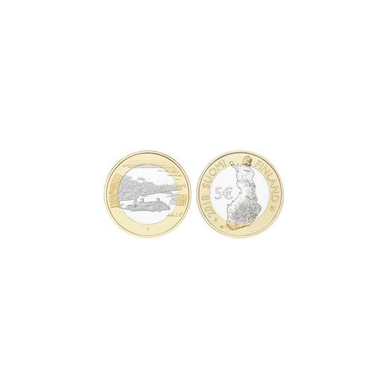 Finland 2018 5 euro Olavinlinna ja Pihlajavesi Unc