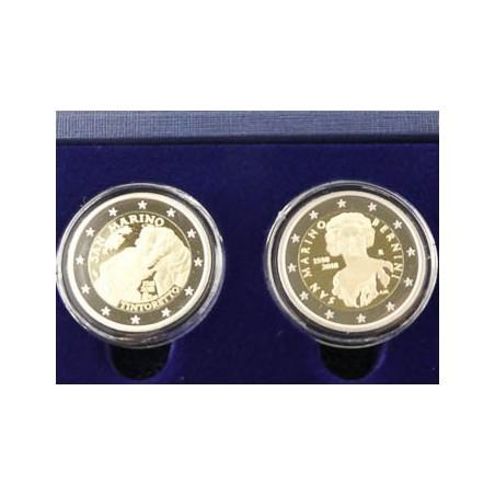 Proofset San Marino 2018 inclusief 2 x 2 euro comm.
