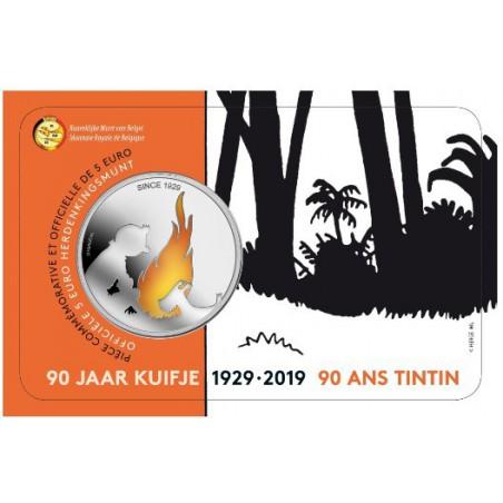 België 2019 5 euro '90 jaar Kuifje' Bu in coincard Voorverkoop* Leverbaar in maart.