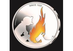 België 2019 5 euro '90 jaar Kuifje' Bu in coincard Gekleurd Voorverkoop* Leverbaar in maart.