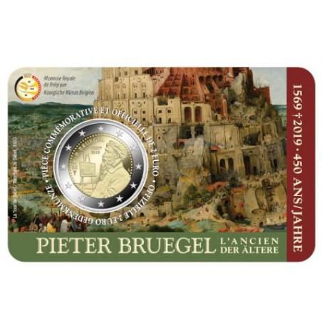 """2 Euro België 2019 """"450 jaar  Bruegel"""" Bu in coincard Waals Voorverkoop* (levering in maart)"""