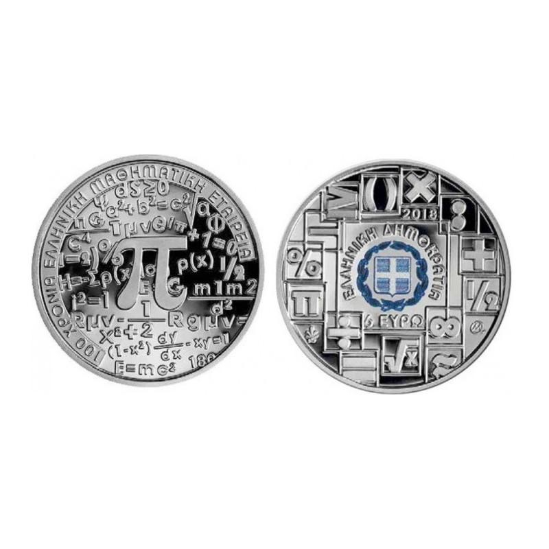 Griekenland 2018 6 euro Ýear of Mathematics' Zilver proof