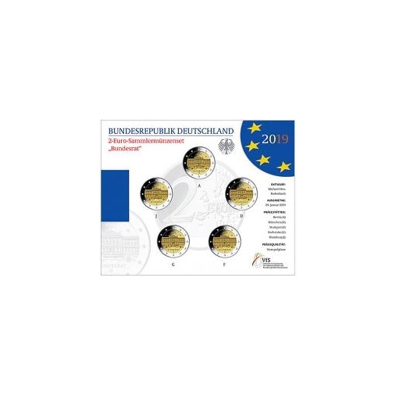 2 Euro Duitsland 2019 ADFG & J Bundesrat Bu