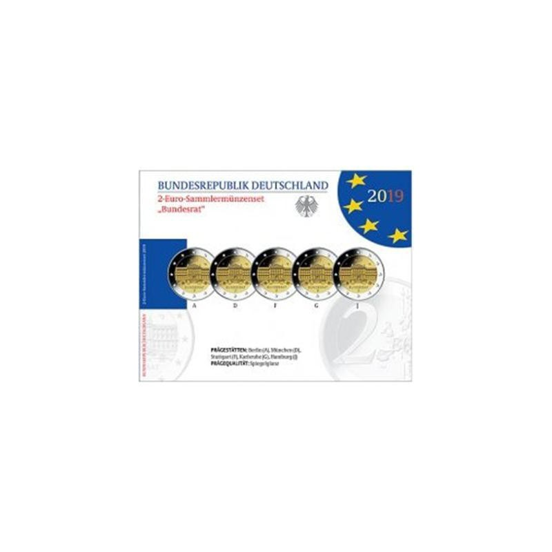 2 Euro Duitsland 2019 ADFG & J Bundesrat Proof