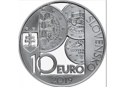 Slowakije 2019 10 Euro Proof 10 Jaar Euro