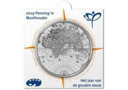 Penning 2019 Holland Coin Fair 'Jaar van de gouden eeuw' in Munthouder