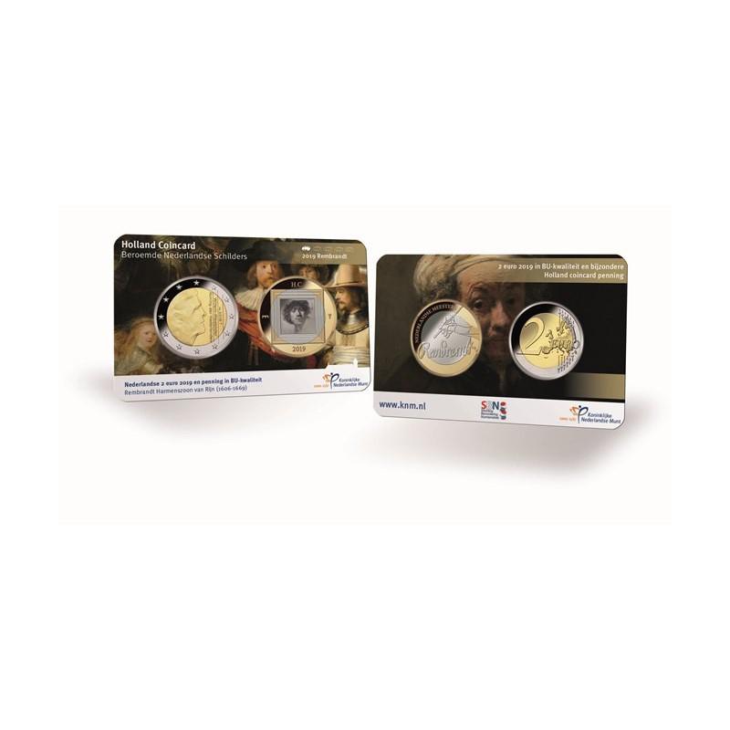 Nederland 2019 Holland coin Fair coincard thema Rembrandt