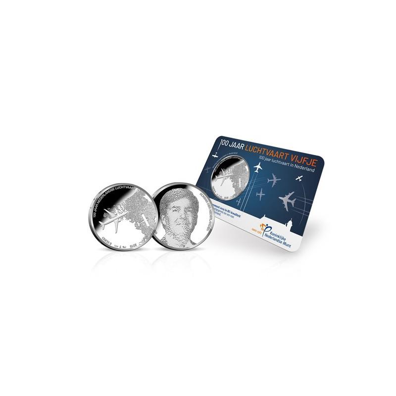 Nederland 2019 Het Luchtvaart vijfje Unc in coincard Voorverkoop*