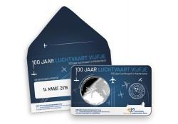 Nederland 2019 Het Luchtvaart vijfje 1e dag in coincard