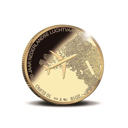 Nederland 2019 Het Luchtvaart Tientje Goud Proof
