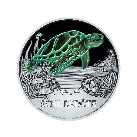 Oostenrijk 2019 3 euro Schildpad Unc