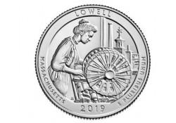 U.S.A ¼ Dollar Lowell 2019 D UNC Voorverkoop*