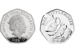Groot Britannië 2018 50 Pence  Unc Beatrix Potter Mrs Tittlemouse