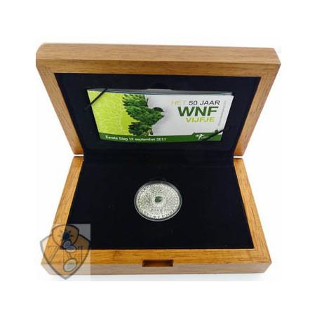 Nederland 2011 5 Euro WNF Zilver Proof  Ceremoniële 1e slag