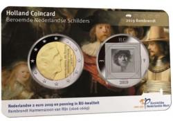 Nederland 2019 Holland coin Fair coincard thema Rembrandt Met zilveren penning