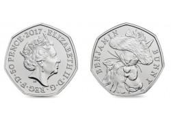 Groot Britannië 2017 50 Pence  Unc Benjamin Bunny