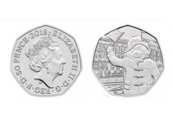 Groot Britannië 2018 50 Pence Unc Paddington Waving