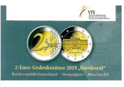 2 Euro Duitsland 2019 D Bundesrat in Coincard