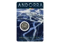 2 Euro Andorra 2019 Bu in blister Wk Skieën