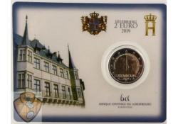 2 euro Luxemburg 2019 Charlotte Bu in coincard met muntteken Servaas.
