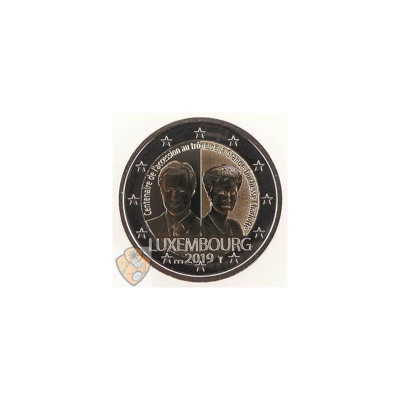 2 euro Luxemburg 2019 Charlotte met muntteken Servaas.
