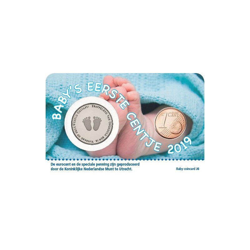 Baby Jongen Coincard 2019 Mijn eerste centje Voorverkoop*