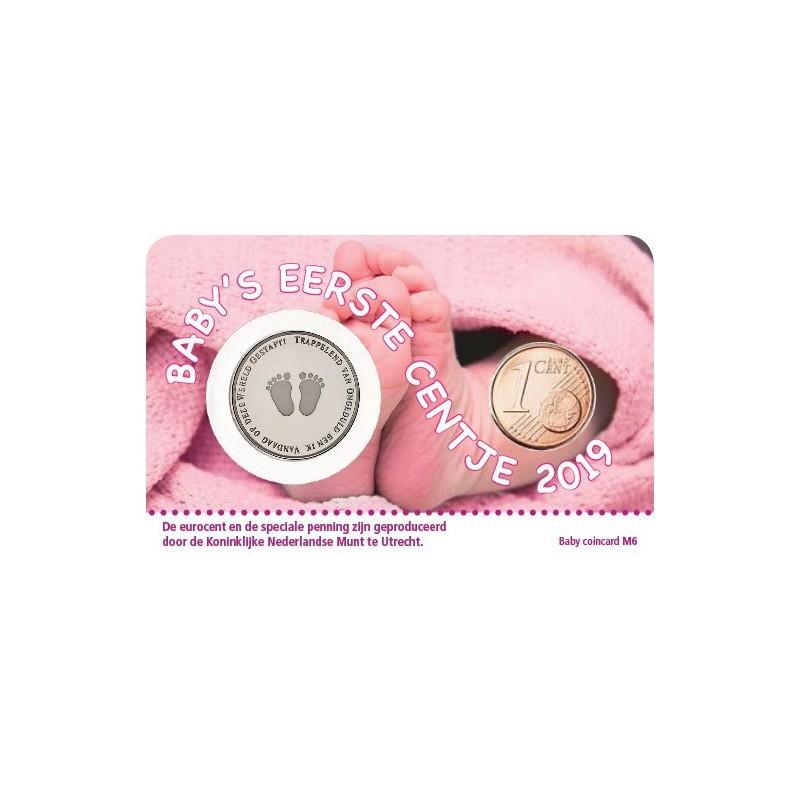 Baby Meisje Coincard 2019 Mijn eerste centje Voorverkoop*