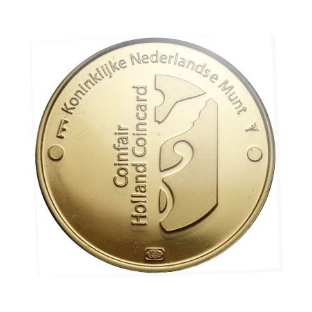 Nederland 2018 Holland coin Fair coincard thema tulpen Met gouden penning