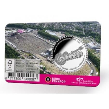 Nederland 2019 50 jaar Pinkpop Penning in coincard.