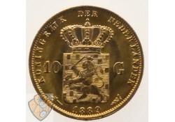10 Gulden 1889 Willem III Goud Pr