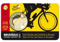 "België 2019 2½ Euro 'Grand Départ Brussel"" Bu in coincard Vlaams"