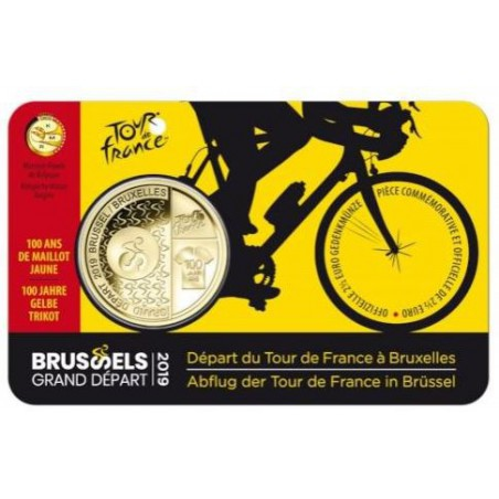 "België 2019 2½ Euro 'Grand Départ Brussel"" Bu in coincard Waals"