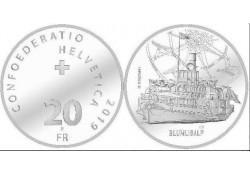 Zwitserland 2019 20 Franc Blümlisalp Unc Zilver