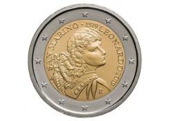 2 Euro San Marino 2019 Leonardo da Vinci in blister