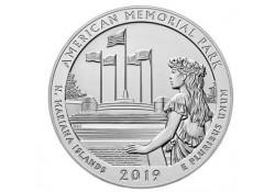 U.S.A ¼ Dollar American Memorial Park 2019 D UNC