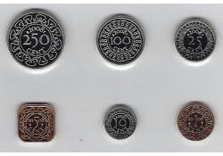 Jaarserie Suriname 2010 1 cent t/m 2.50 Unc