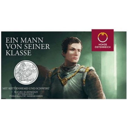 10 Euro Oostenrijk 2019 Ridder Zilver Bu in blister