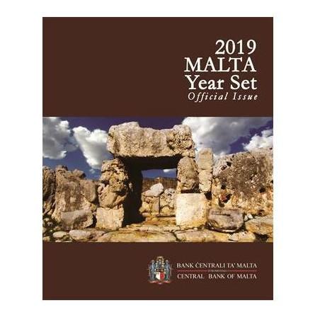 Bu set Malta 2019 Met extra de 2 euro Tempel Hagrat met F in ster