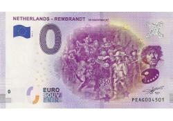 0 Euro biljet Nederland 2019 - Rembrandt De Nachtwacht
