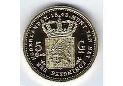 Replica 5 Gulden goud 1843 (zilver